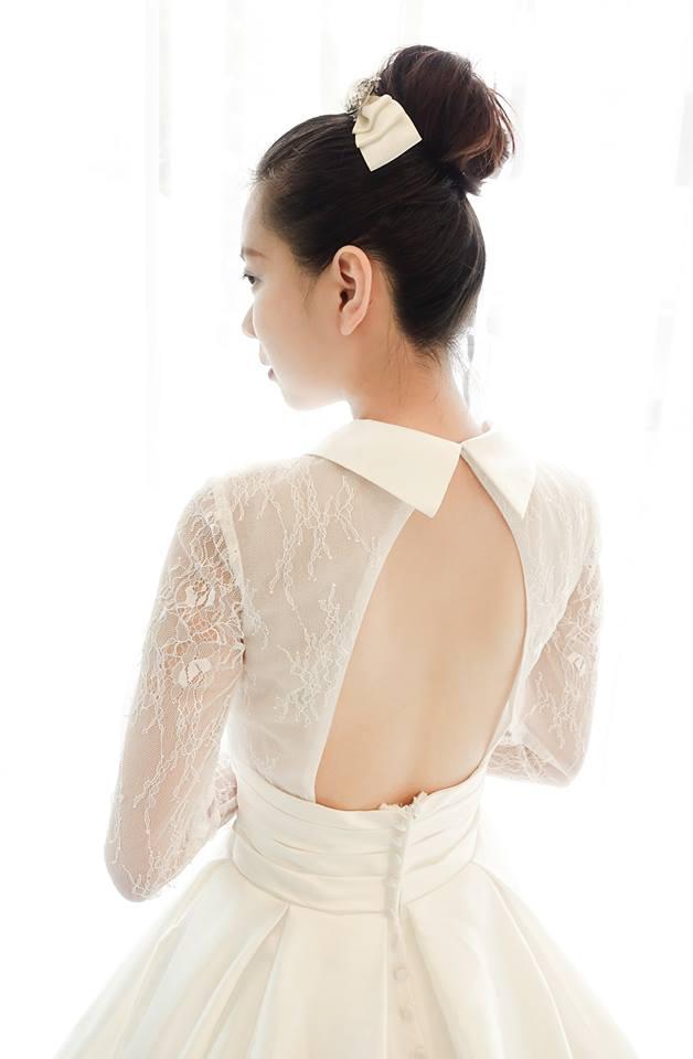 復古赫本風襯衫領白紗 - 愛情蔓延精緻婚紗 - 台中婚紗 | 禮服出租 | 婚紗推薦
