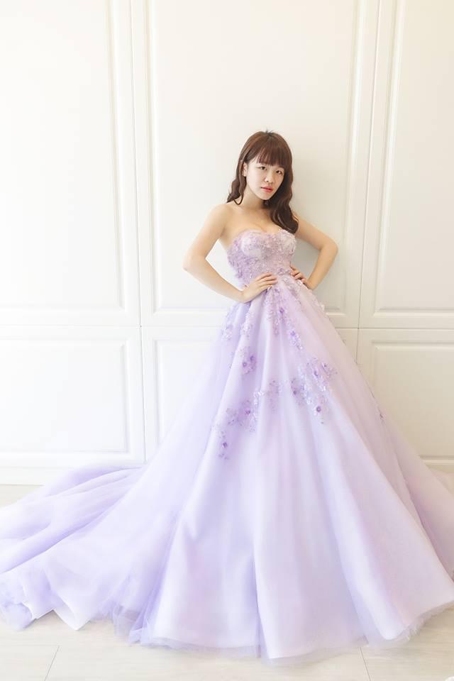 浪漫紫丁香蓬蓬禮服 - 愛情蔓延精緻婚紗 - 台中婚紗 | 禮服出租 | 婚紗推薦