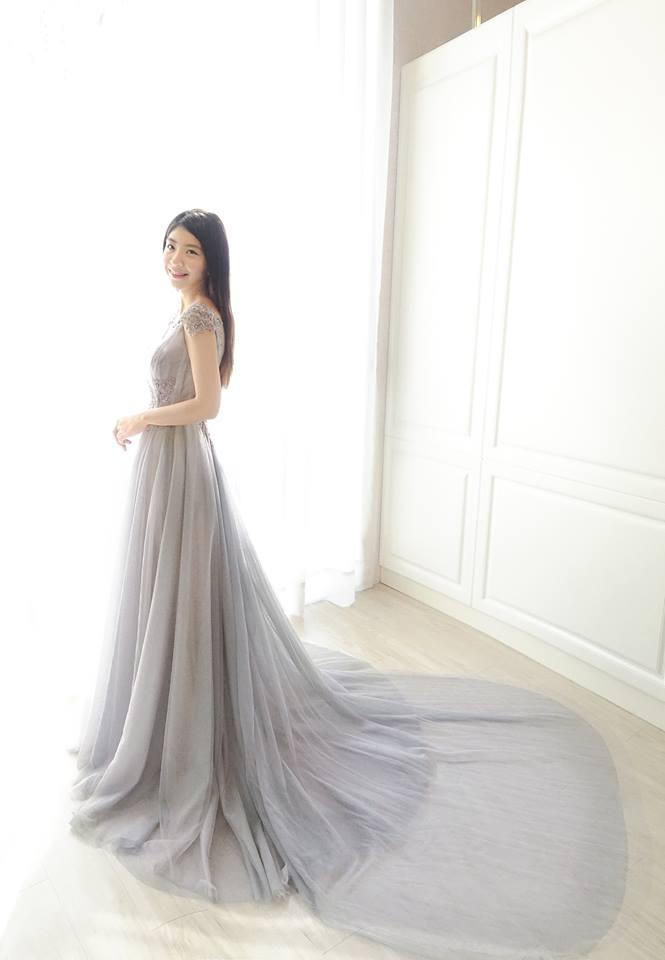 希臘女神灰紫色禮服 - 愛情蔓延精緻婚紗 - 台中婚紗 | 禮服出租 | 婚紗推薦