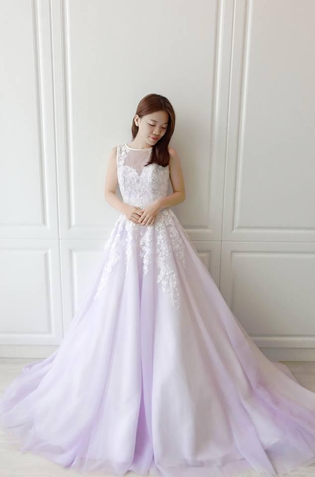 浪漫薰衣草紫禮服- 愛情蔓延精緻婚紗 - 台中婚紗 | 禮服出租 | 婚紗推薦