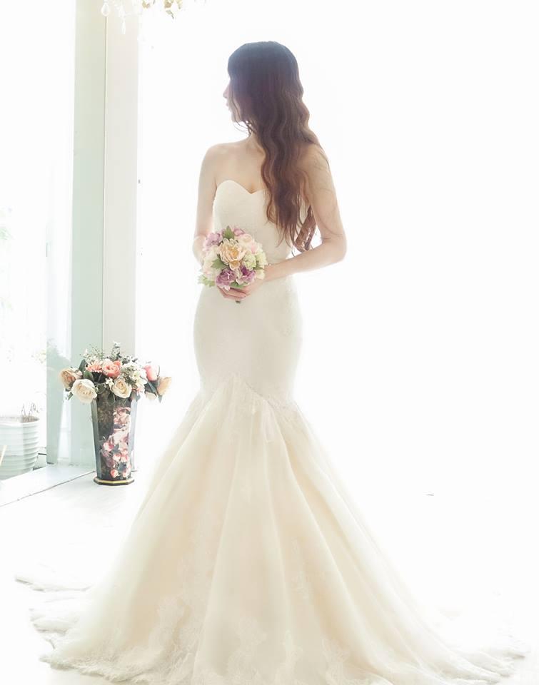 浪漫香檳蕾絲魚尾類白紗 - 愛情蔓延精緻婚紗 - 台中婚紗 | 禮服出租 | 婚紗推薦