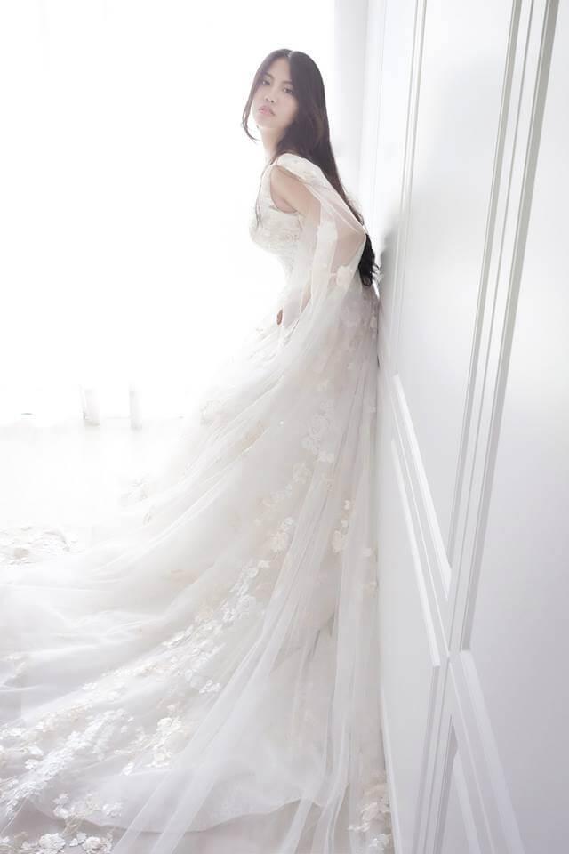 夢幻仙女系飄逸肩紗白紗 - 愛情蔓延精緻婚紗 - 台中婚紗   禮服出租   婚紗推薦