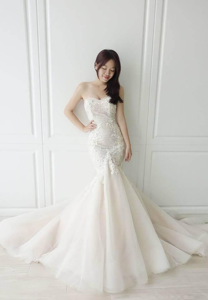 氣質裸色魚尾白紗 - 愛情蔓延精緻婚紗 - 台中婚紗 | 禮服出租 | 婚紗推薦