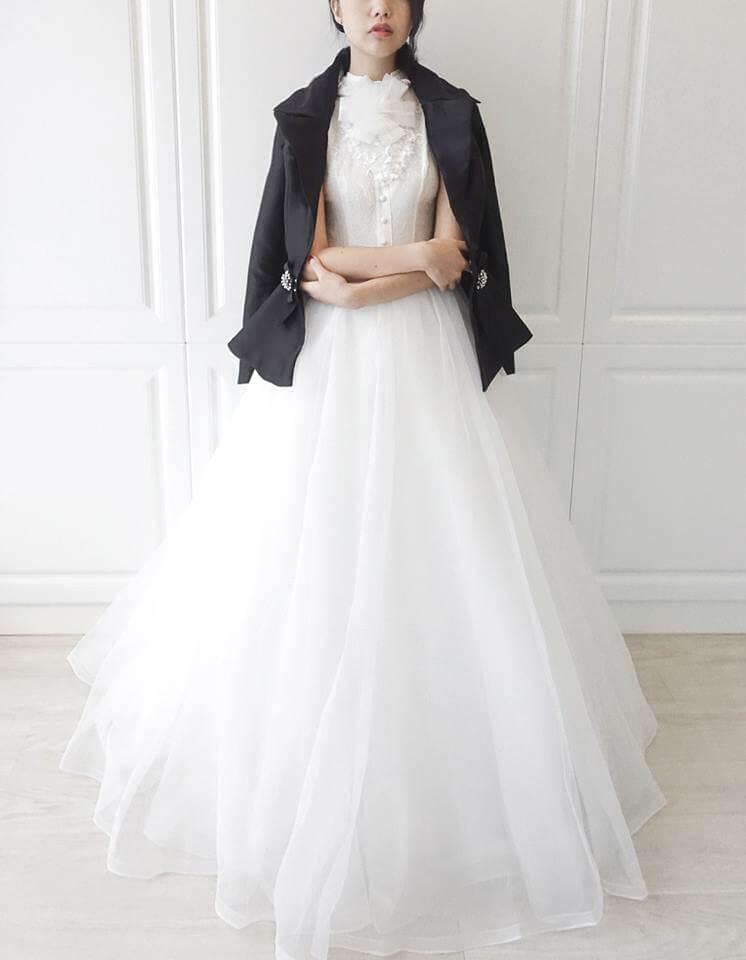 古典蕾絲小立領白紗 - 愛情蔓延精緻婚紗 - 台中婚紗 | 禮服出租 | 婚紗推薦