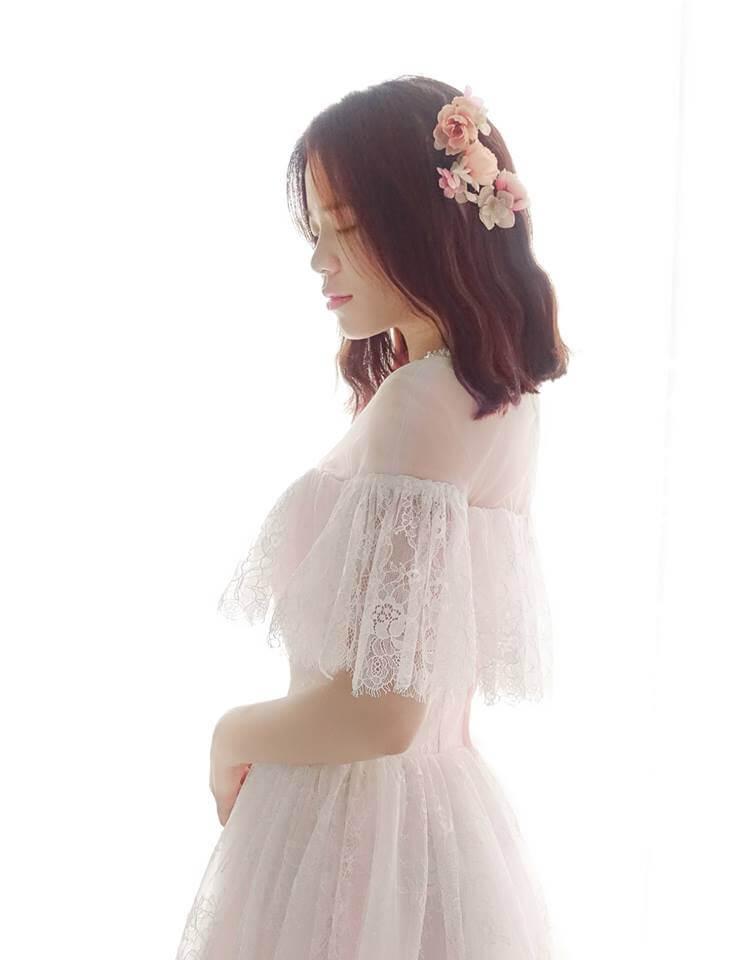 仙女系粉色水袖卡肩禮服 - 愛情蔓延精緻婚紗 - 台中婚紗 | 禮服出租 | 婚紗推薦
