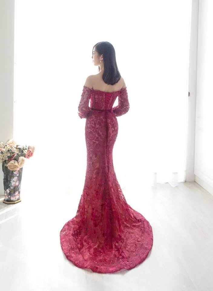古典宮廷一字肩禮服 - 愛情蔓延精緻婚紗 - 台中婚紗 | 禮服出租 | 婚紗推薦