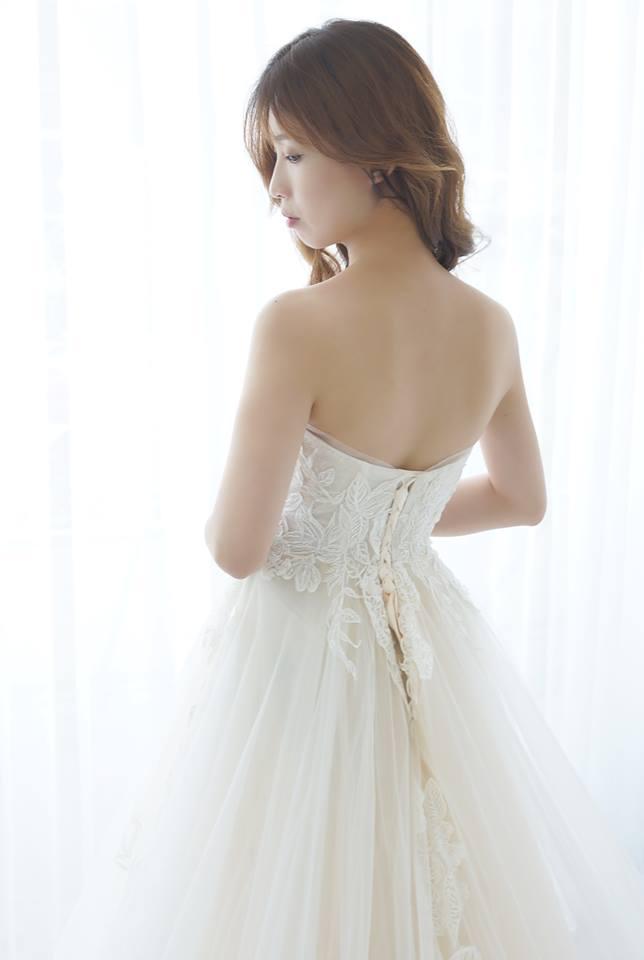 典雅平口蕾絲類白紗 - 愛情蔓延精緻婚紗 - 台中婚紗 | 禮服出租 | 婚紗推薦