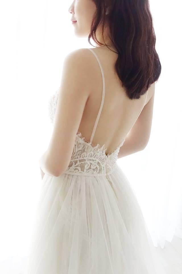 浪漫細肩帶娃娃裝白紗 - 愛情蔓延精緻婚紗 - 台中婚紗 | 禮服出租 | 婚紗推薦
