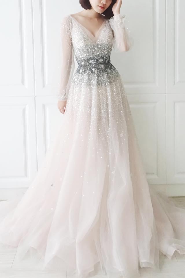 銀河星雲冰霧灰禮服 - 愛情蔓延精緻婚紗 - 台中婚紗 | 禮服出租 | 婚紗推薦