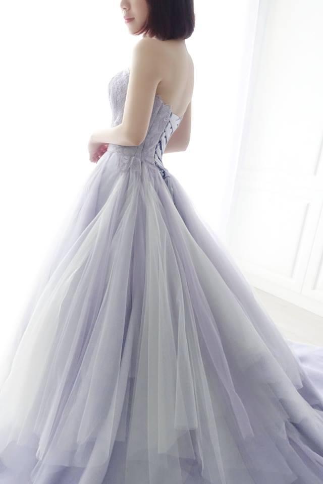 浪漫雙色薰衣草紫禮服 - 愛情蔓延精緻婚紗 - 台中婚紗 | 禮服出租 | 婚紗推薦