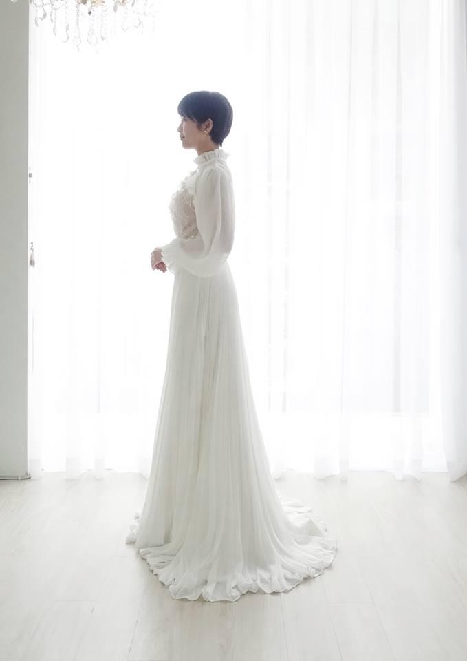 復古女伶高領白紗 - 愛情蔓延精緻婚紗 - 台中婚紗 | 禮服出租 | 婚紗推薦