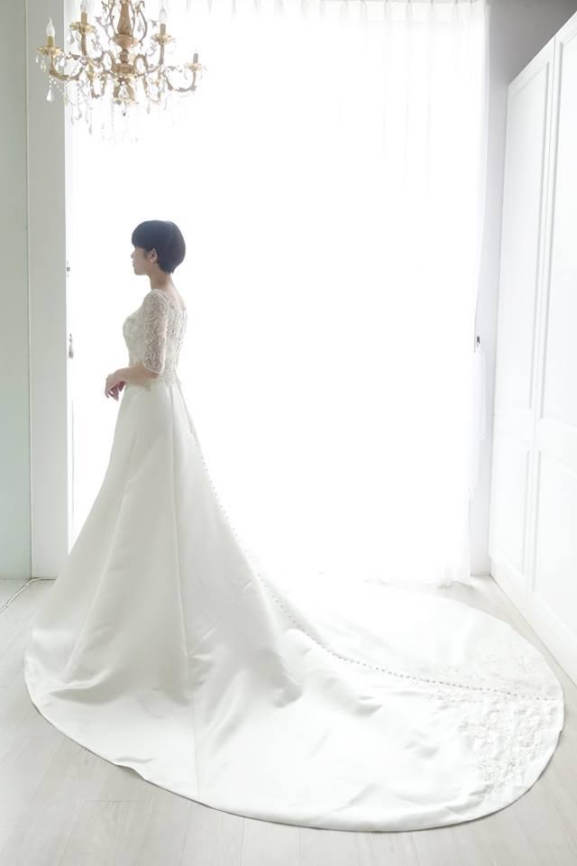 Casablanca優雅緞面白紗 - 愛情蔓延精緻婚紗 - 台中婚紗 | 禮服出租 | 婚紗推薦面白紗