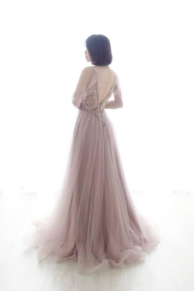 閃耀粉藕縫珠禮服 - 愛情蔓延精緻婚紗 - 台中婚紗 | 禮服出租 | 婚紗推薦面白紗