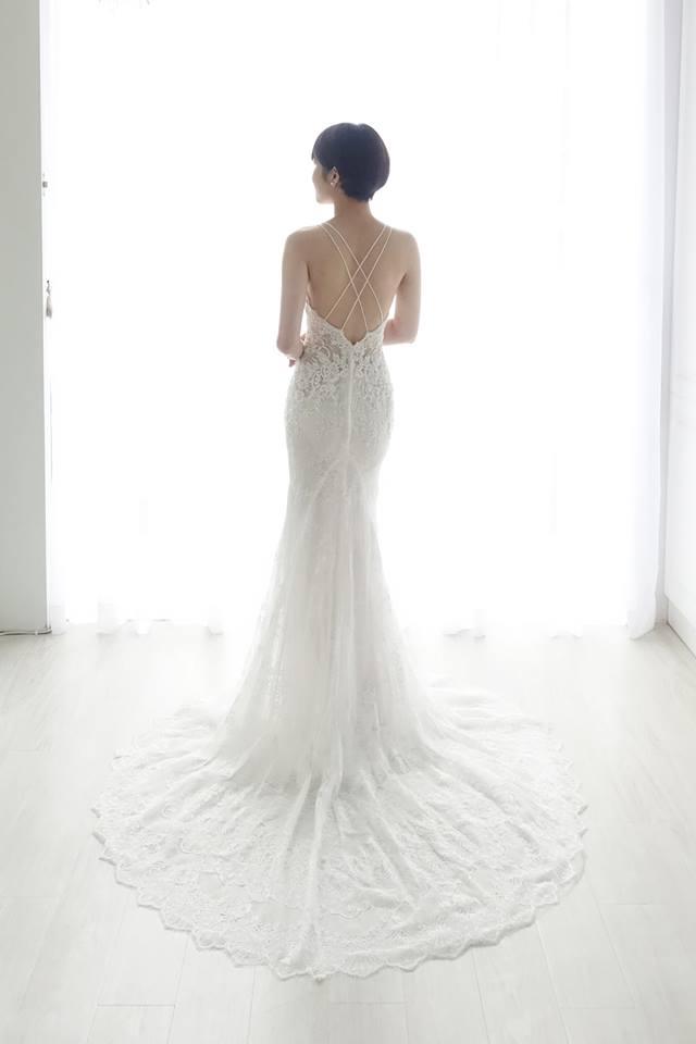 歐美細肩交叉美背白紗 - 愛情蔓延精緻婚紗 - 台中婚紗 | 禮服出租 | 婚紗推薦