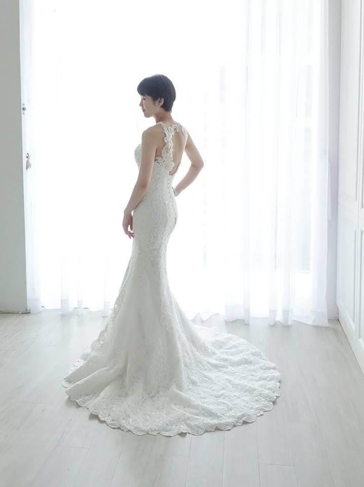 特色削肩式兩穿式蕾絲魚尾白紗 - 愛情蔓延精緻婚紗 - 台中婚紗 | 禮服出租 | 婚紗推薦