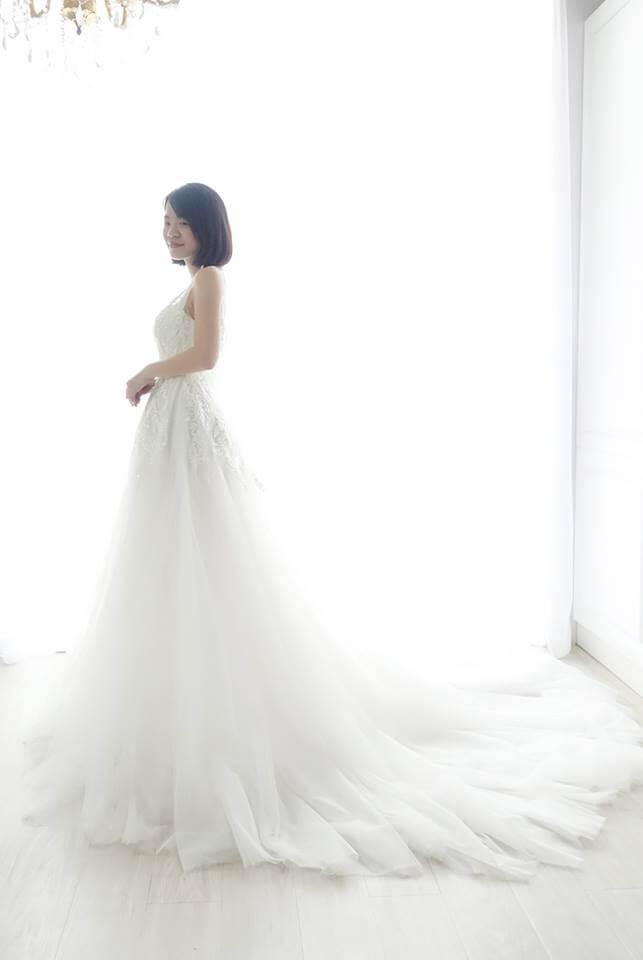 氣質枝葉珠繡白紗 - 愛情蔓延精緻婚紗 - 台中婚紗   禮服出租   婚紗推薦