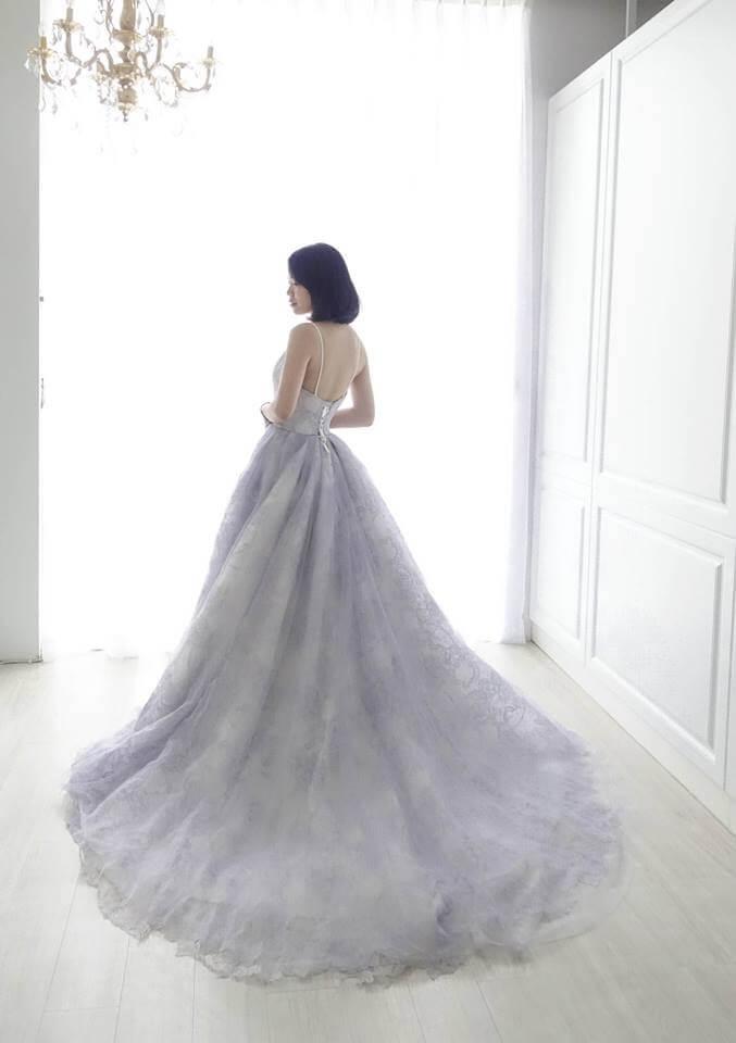 浪漫薰衣草紫細肩帶禮服 - 愛情蔓延精緻婚紗 - 台中婚紗 | 禮服出租 | 婚紗推薦