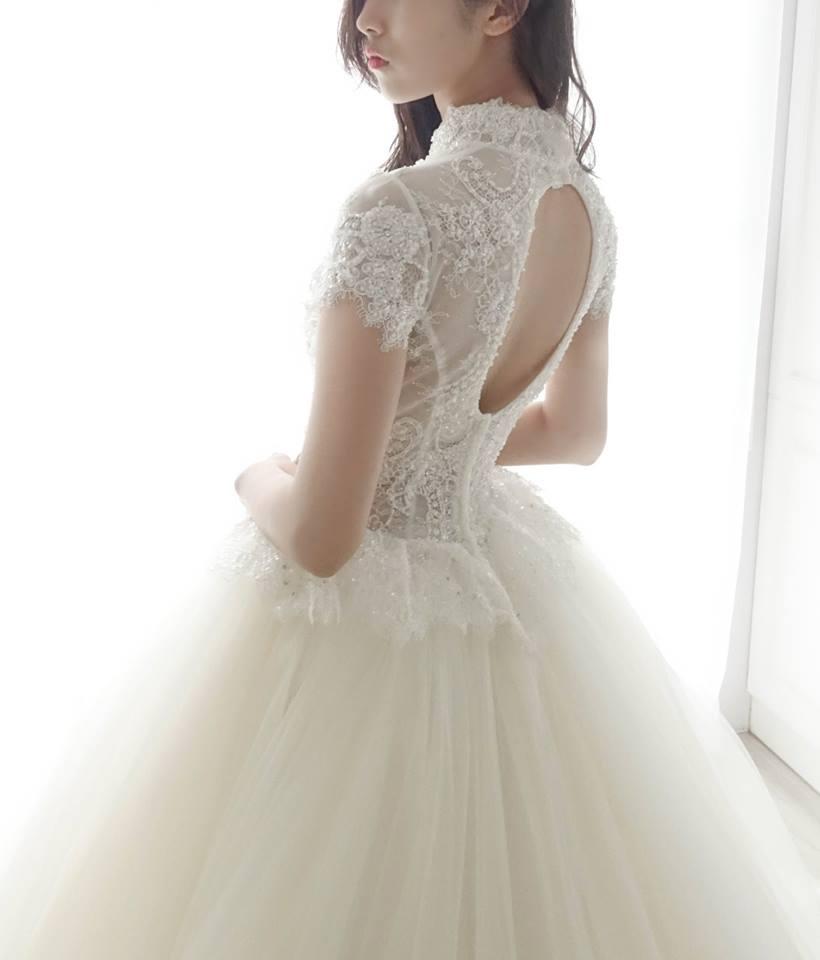古典高領亮片蕾絲白紗 - 愛情蔓延精緻婚紗 - 台中婚紗 | 禮服出租 | 婚紗推薦