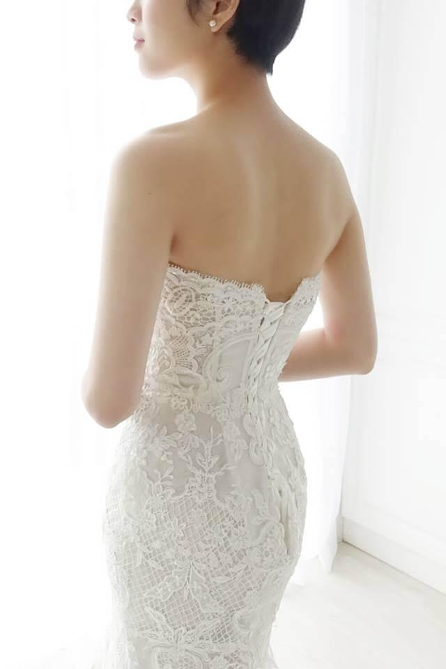 歐美圖騰蕾絲魚尾白紗 - 愛情蔓延精緻婚紗 - 台中婚紗 | 禮服出租 | 婚紗推薦