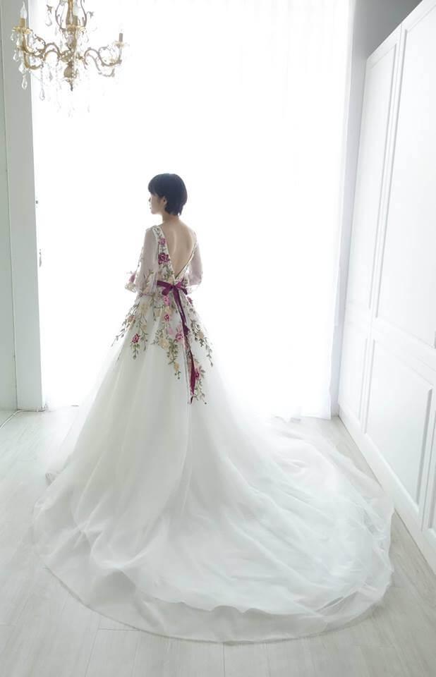 花之女神立體刺繡禮服 - 愛情蔓延精緻婚紗 - 台中婚紗 | 禮服出租 | 婚紗推薦