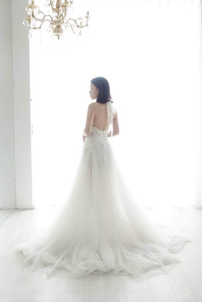 浪漫點點削肩裸白紗 - 愛情蔓延精緻婚紗 - 台中婚紗 | 禮服出租 | 婚紗推薦