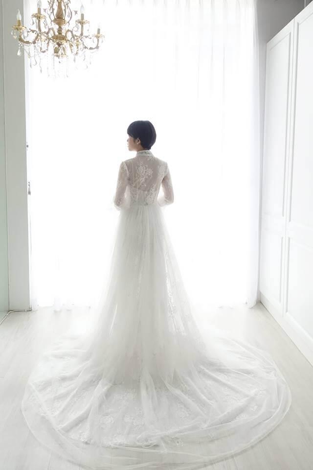 古典蕾絲罩衫式白紗 - 愛情蔓延精緻婚紗 - 台中婚紗 | 禮服出租 | 婚紗推薦