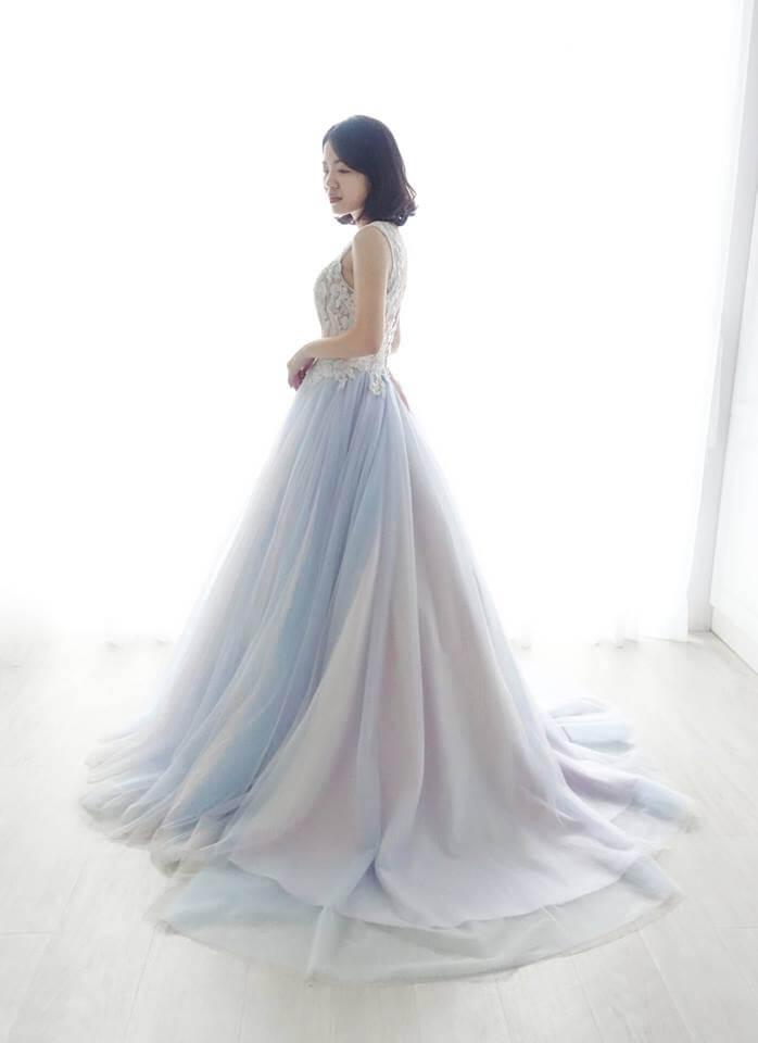 夢幻獨角獸漸層紫禮服 - 愛情蔓延精緻婚紗 - 台中婚紗   禮服出租   婚紗推薦