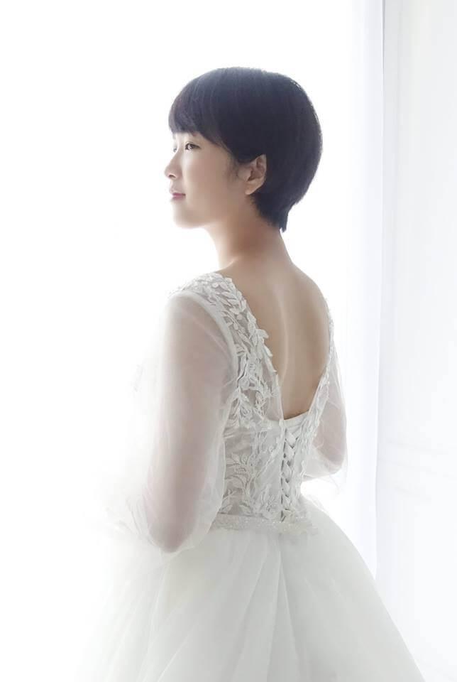 甜美微透公主袖白紗 - 愛情蔓延精緻婚紗 - 台中婚紗 | 禮服出租 | 婚紗推薦