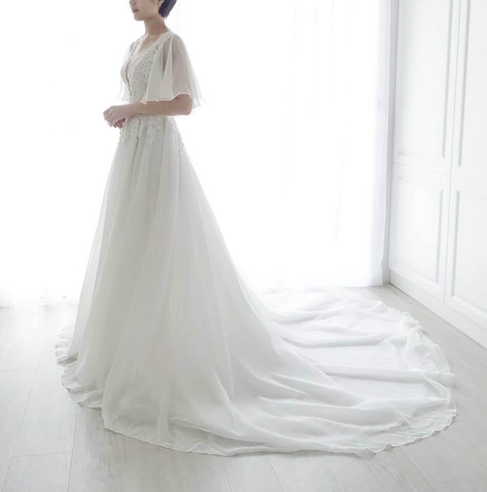 優雅雪紡水袖白紗 - 愛情蔓延精緻婚紗 - 台中婚紗 | 禮服出租 | 婚紗推薦