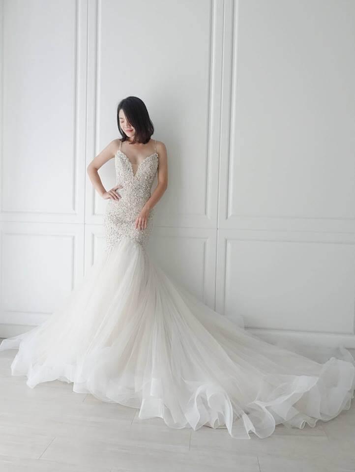 Casablanca璀璨香檳金類白紗 - 愛情蔓延精緻婚紗 - 台中婚紗 | 禮服出租 | 婚紗推薦