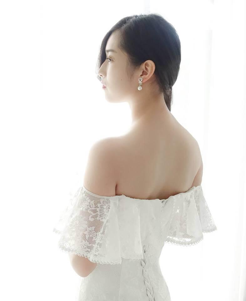 溫柔全蕾絲卡肩袖 - 愛情蔓延精緻婚紗 - 台中婚紗 | 禮服出租 | 婚紗推薦