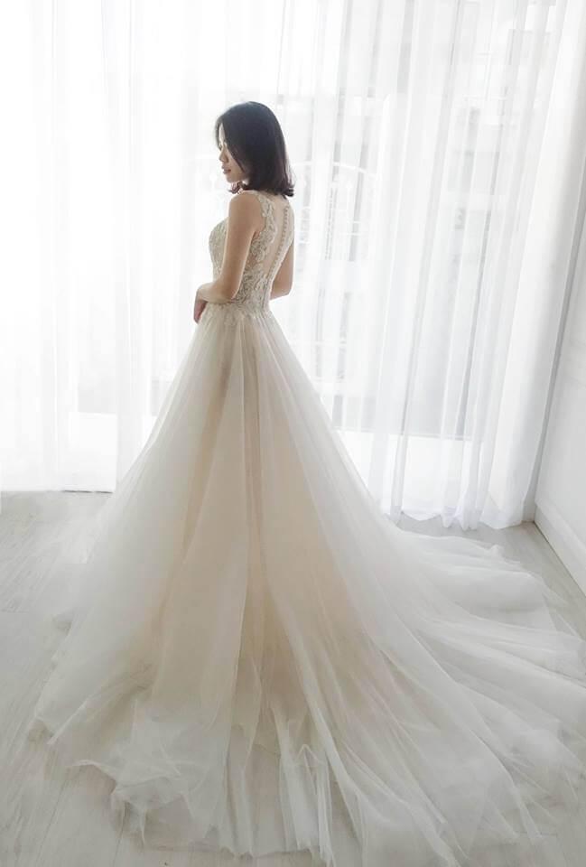 氣質網紗雙色 - 愛情蔓延精緻婚紗 - 台中婚紗 | 禮服出租 | 婚紗推薦