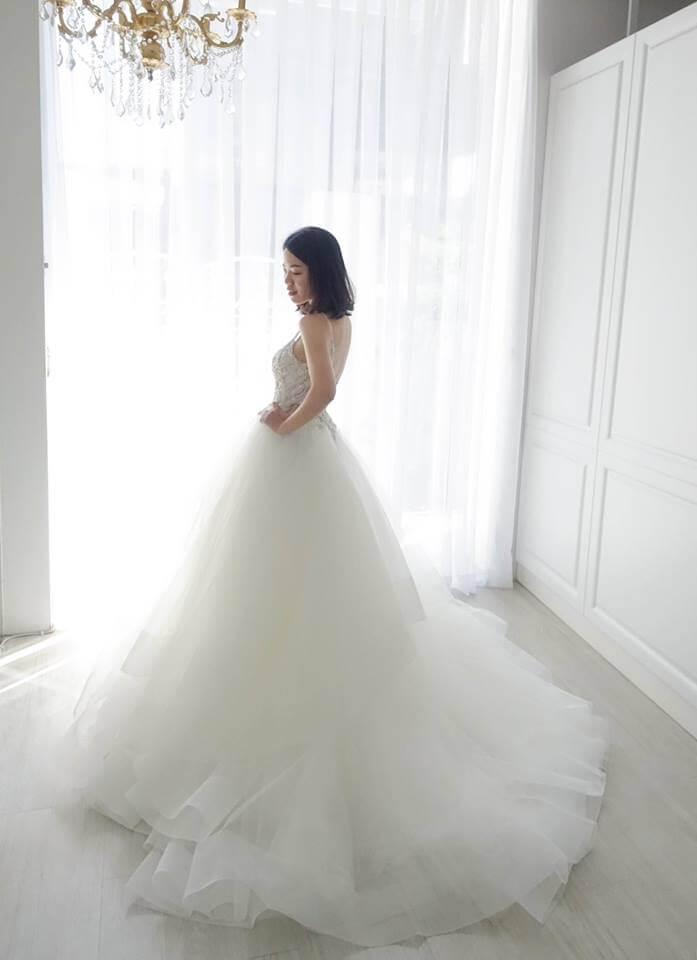 Casablanca俐落水鑽層次白紗 - 愛情蔓延精緻婚紗 - 台中婚紗 | 禮服出租 | 婚紗推薦