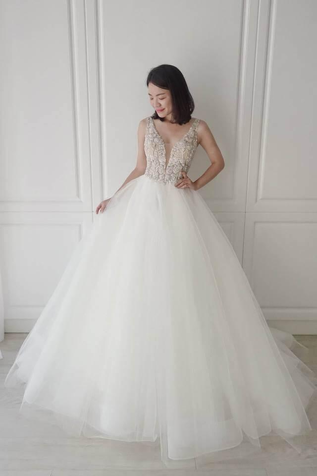 Casablanca品牌枝葉水鑽白紗 - 愛情蔓延精緻婚紗 - 台中婚紗 | 禮服出租 | 婚紗推薦
