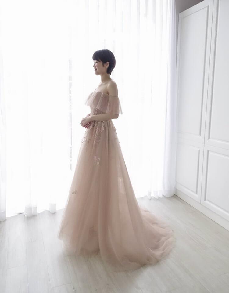 乾燥玫瑰卡肩粉 - 台中婚紗 | 禮服出租 | 婚紗推薦